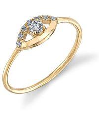 Sydney Evan - Diamond Open Evil Eye Ring - Lyst