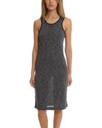 ATM - Atm Sleeveless Melange Henley Dress - Lyst