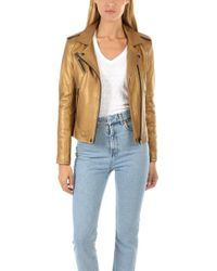 IRO - Newhan Leather Jacket - Lyst