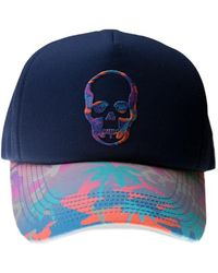 Lucien Pellat Finet - Skull Embroidered Cap - Lyst