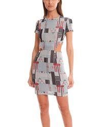SUNO - Glitter Cutout Midi Dress - Lyst