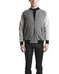 Shades of Grey by Micah Cohen - Knit Bomber Jacket - Lyst