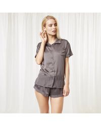 Bluebella - Sophie Shirt And Short Grey - Lyst
