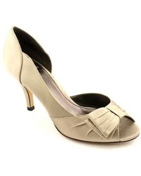 Isola - Womens Dolce Leather Peep Toe D-orsay Court Shoes - Lyst