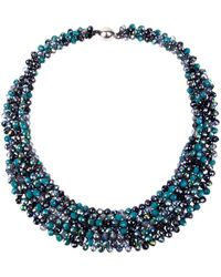 Saachi - Crystal Collar Necklace - Lyst