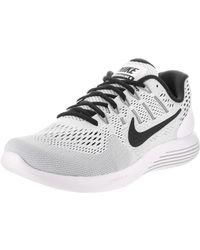 online retailer 94851 3b8fb Lyst - Nike Lunarglide 9 Black/black Anthracite Volt Running ...