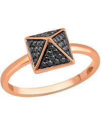 Socheec - Spike Ring With Black Diamonds In 18k - Lyst