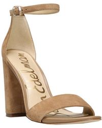 6fb9de0a5 Lyst - Sam edelman Women s Azela Sandals in Metallic