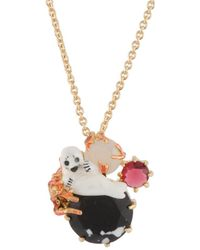 Les Nereides | Ostentatious Obscurity Baby Seal With Marbled Stones Short Necklace | Lyst
