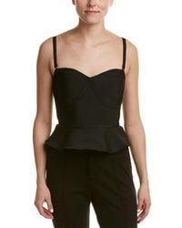 Wow Couture - Cropped Peplum Top - Lyst