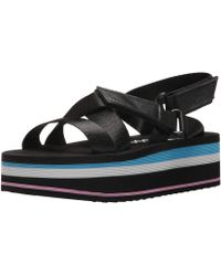 Rocket Dog - Women's Jarvis Strapper Fabric/smooth Pu Wedge Sandal - Lyst