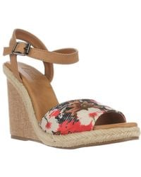 Mojo Moxy - Dolce By Posey Espadrille Wedge Sandals, Black - Lyst
