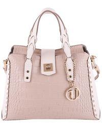 Trussardi - Women's Beige Polyurethane Handbag - Lyst