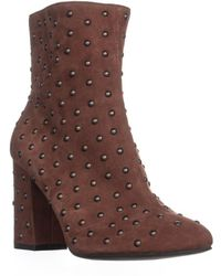 Lucky Brand - Wesson2 Ankle Studded Zip Up Boots, Rye - Lyst