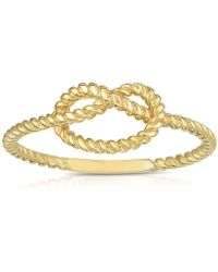 Jewelry Affairs - 14k Yellow Gold Twisted Cable Knot Ring, Size 7 - Lyst