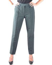 Céline | Women's Green Cotton Pants | Lyst