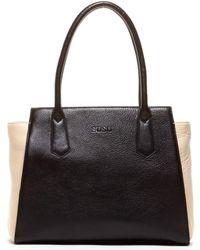Susu - Jody Classic Shoulder Bag Black Leather Tote - Lyst