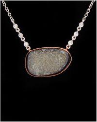 Meira T - 14k & Silver 9.19 Ct. Tw. Diamond & Druzy Necklace - Lyst