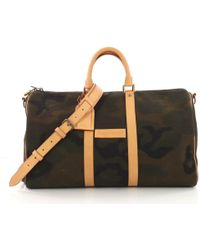 fc804112ed59 Louis Vuitton - Pre Owned Keepall Bandouliere Bag Limited Edition Supreme  Camouflage Canvas 45 - Lyst