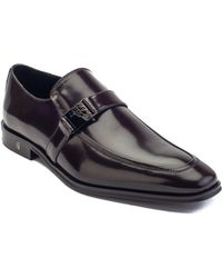 75b44ef5091930 Versace - Collection Men s Patent Leather Oxford Strapped Dress Shoes Dark  Brown - Lyst