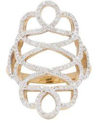 Adornia - Diamond And 14 Karat Yellow Gold Renaissance Ring - Lyst