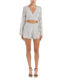 Lucca Couture | Cutout Wrap Romper | Lyst