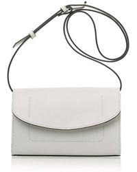 Joanna Maxham - The Runthrough Mini Bag In White Nappa (nkl) - Lyst