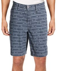 William Rast - Mens Baine Striped Slit Pockets Casual Shorts - Lyst
