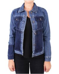 WÅVEN - Women's Blue Cotton Jacket - Lyst