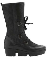 Arche - Women's Ice Lug Sole Boot Black Leather Size 42 M - Lyst