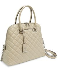 Adrienne Vittadini - Cushion Quilted Chain Strap Dome Satchel - Lyst
