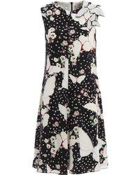Valentino - Women's Black Silk Dress - Lyst