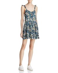 Free People - Dear You Printed Mini Dress - Lyst