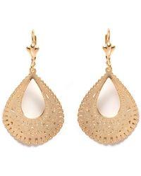 Peermont - Gold Teardrop Earrings - Lyst