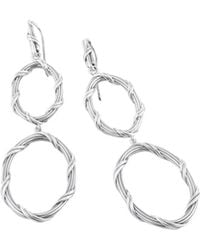 Peter Thomas Roth Fine Jewelry - Peter Thomas Roth Signature Classic Double Oval Drop Earrings In Sterling Silver - Lyst