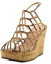 J/Slides - Nikki Beige Caged Sandals - Lyst