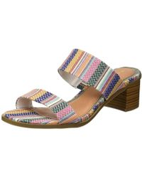 Rampage - Womens Hatty Double Strap Block Heled Sandal - Lyst