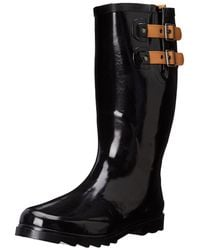 Chooka - Womens Top Solid Rubber Almond Toe Mid-calf Rainboots - Lyst