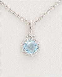 Judith Ripka - La Petite Silver 1.97 Ct. Tw. Gemstone Necklace - Lyst