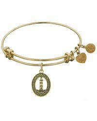 Angelica - Stipple Finish Brass Lighthouse Bangle Bracelet, 7.25 - Lyst