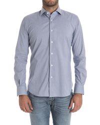 Xacus - Men's Light Blue Cotton Shirt - Lyst