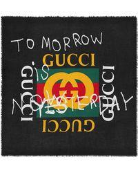Gucci - Coco Capitán Logo Modal Silk Shawl - Lyst