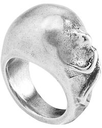Uno De 50 - Unode50 Miley Silver Plated Ring, 6 - Lyst