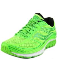 Saucony - Guide 9 Men Round Toe Synthetic Green Running Shoe - Lyst
