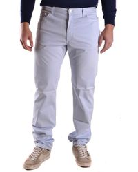 Fred Perry - Men's Mcbi128153o Light Blue Cotton Jeans - Lyst