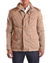 Peuterey - Men's Beige Polyamide Outerwear Jacket - Lyst