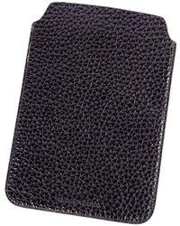 Brunello Cucinelli - Dark Brown Grained Leather Ipad Sleeve Case - Lyst