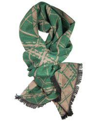 Dibi - Green & Khaki Diamonds Scarf - Lyst