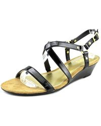 Chaps - Womens Mackenzee Open Toe Ankle Strap Wedge Pumps - Lyst