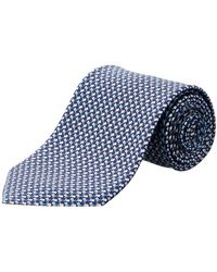 Ferragamo - Navy Flags Silk Tie - Lyst